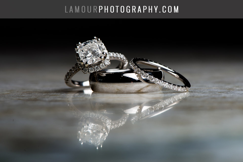 Cushion cut halo engagement ring for Hawaii Wedding