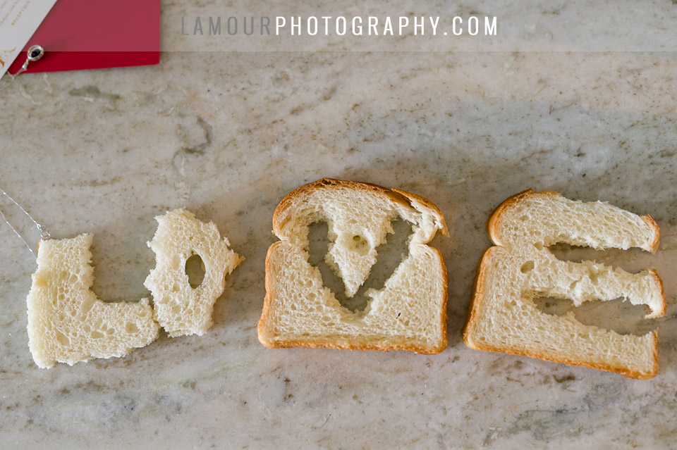 bread spells out love for chinese door game ceremony for wedding in hawaii