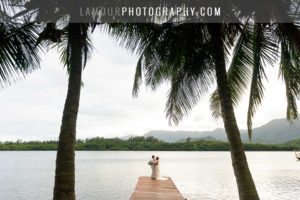 Molii Gardens wedding in Hawaii at Kualoa Ranch