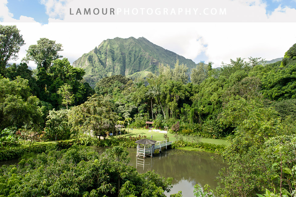 Haiku Gardens weddings in Kaneohe is a stunning Oahu wedding venue