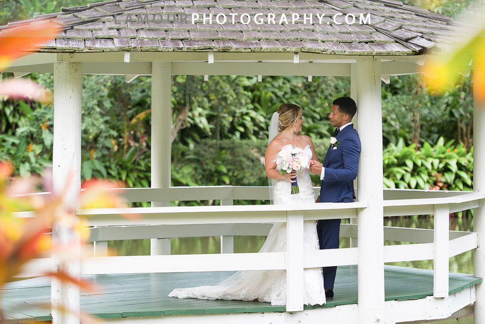 Oahu wedding with good looking couple