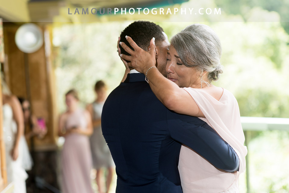 Mother of groom gets emotional during dance with groom