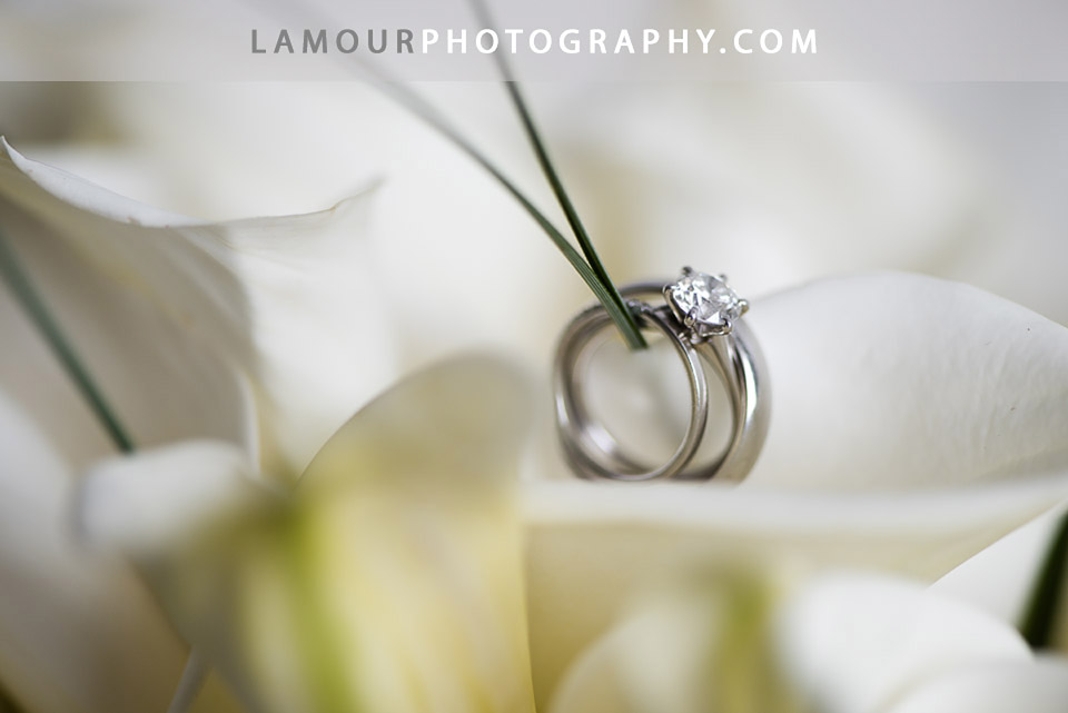 Platinum and Diamond wedding ring photo from Hawaii Wedding photography of L'amour Photo and Video